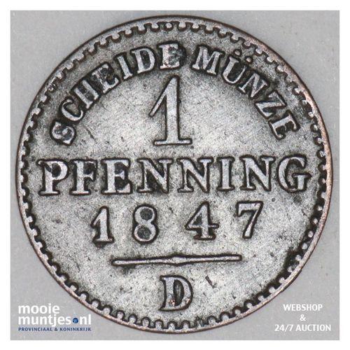 pfennig - German States/Prussia 1847 D (KM 451) (kant A)