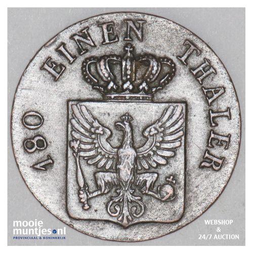 2 pfennig - German States/Prussia 1821 A (KM 406) (kant B)