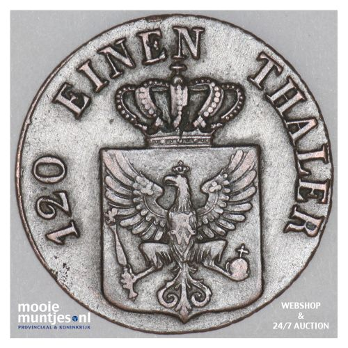 3 pfennig - German States/Prussia 1830 D (KM 407) (kant B)