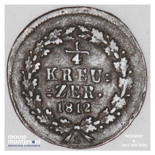 1/4 kreuzer - joint coinage - German States/Nassau 1812 (KM 9) (kant A)