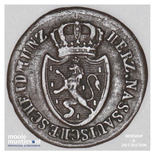 1/4 kreuzer - joint coinage - German States/Nassau 1812 (KM 9) (kant B)