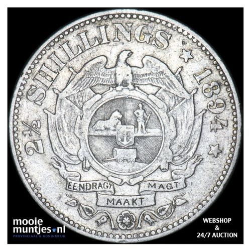2-1/2 shillings - South Africa 1894 (KM 7) (kant A)