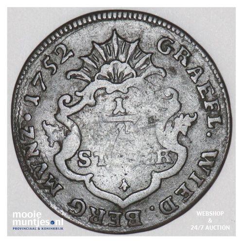 1/4 stuber - German States/Wied-Neuwied 1752 (KM 30) (kant A)