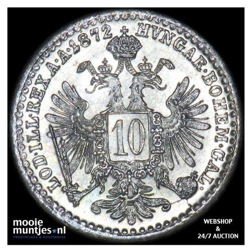 10 kreuzer - Austria 1872 (KM 2206) (kant A)