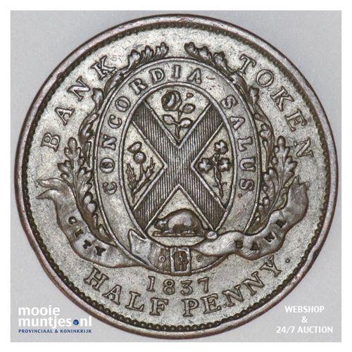 sou (1/2 penny) - Canada/Lower Canada 1837 (KM Tn6) (kant A)