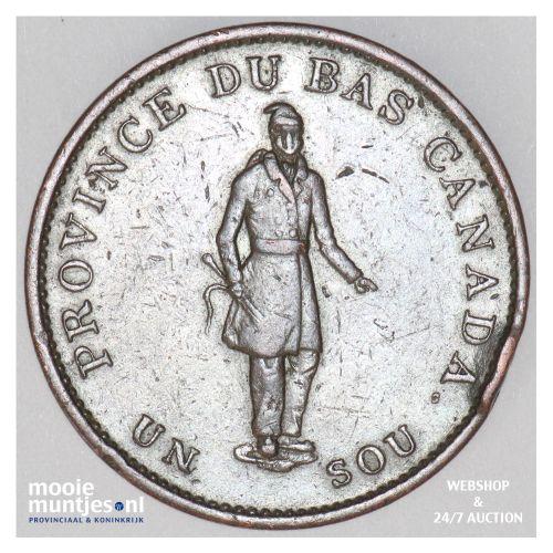 sou (1/2 penny) - Canada/Lower Canada 1837 (KM Tn6) (kant B)