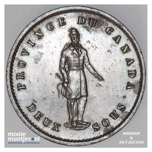 2 sous (penny) - Canada/Lower Canada 1852 (KM Tn21) (kant B)