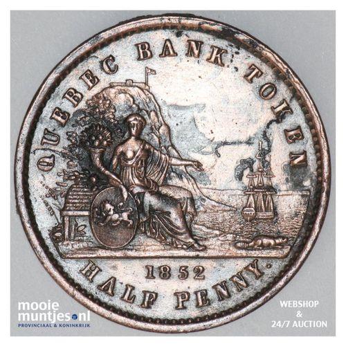 sou (1/2 penny) - Canada/Lower Canada 1852 (KM Tn20) (kant A)