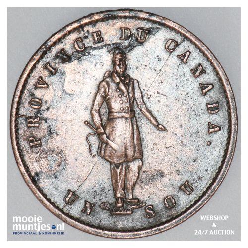 sou (1/2 penny) - Canada/Lower Canada 1852 (KM Tn20) (kant B)