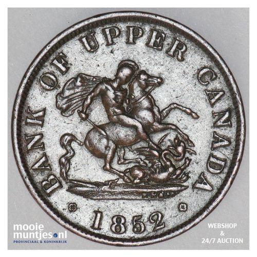 1/2 penny - Canada/Upper Canada 1852 (KM Tn2) (kant A)