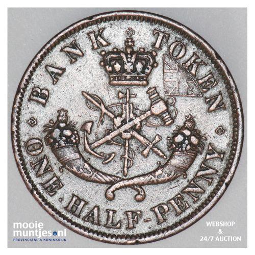 1/2 penny - Canada/Upper Canada 1852 (KM Tn2) (kant B)