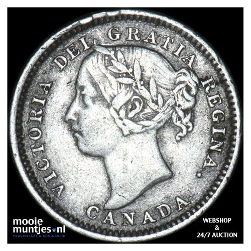 10 cents - Canada 1893 (flat top 3) (KM 3) (kant B)