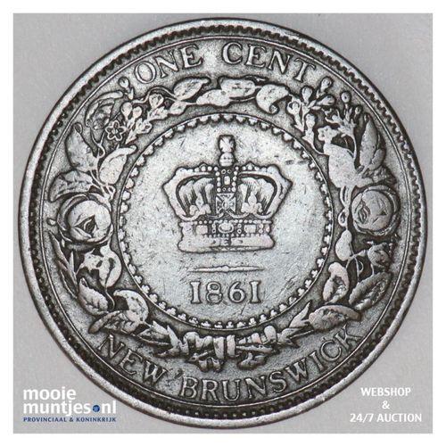 cent - Canada/New Brunswick 1861 (KM 6) (kant A)