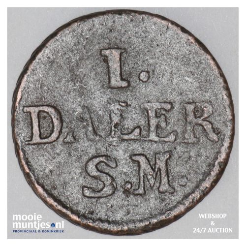 daler - emergency coinage - Sweden 1716 (KM 354) (kant B)