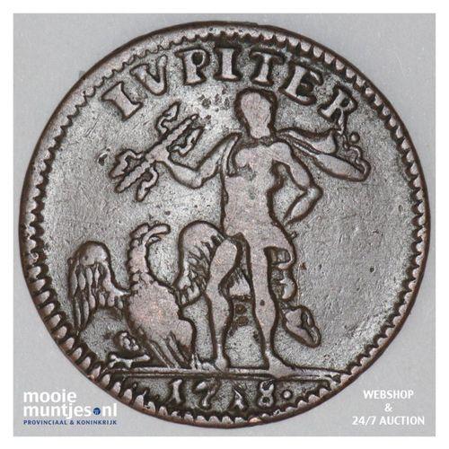 daler - emergency coinage - Sweden 1718 (KM 357) (kant A)