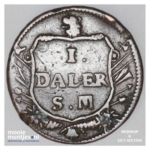 daler - emergency coinage - Sweden 1717 (KM 355) (kant B)