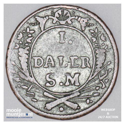 daler - emergency coinage - Sweden 1718 (KM 355) (kant B)