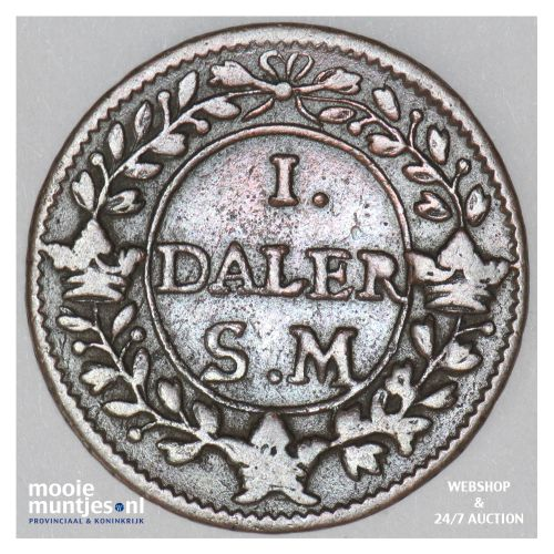 daler - emergency coinage - Sweden 1718 (KM 357) (kant B)