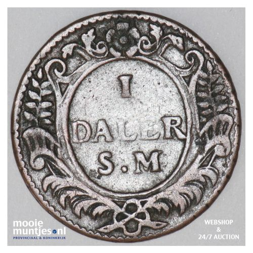 daler - emergency coinage - Sweden 1718 (KM 358) (kant B)