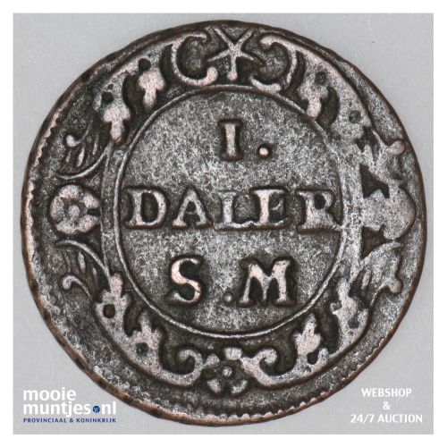daler - emergency coinage - Sweden 1718 (KM 359) (kant B)