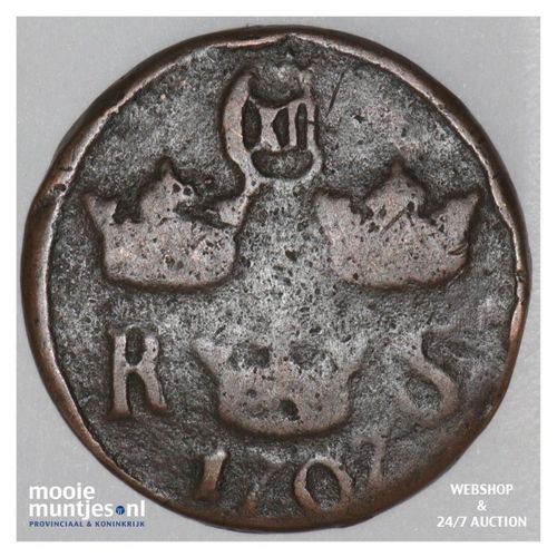 1/6 ore (S.M.) - Sweden 1707 (KM 334) (kant A)