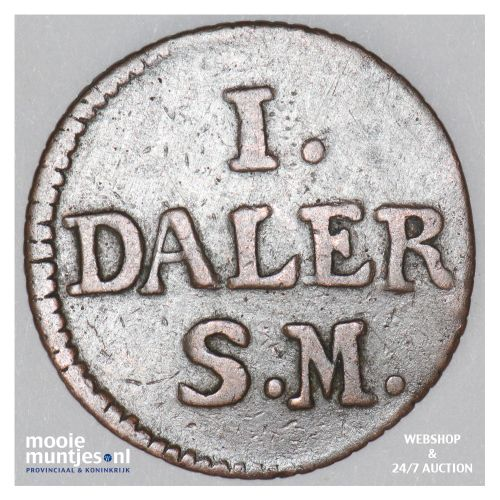 daler - emergency coinage - Sweden 1715 (KM 352) (kant B)
