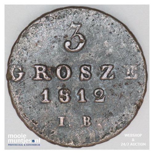 3 grosze - Poland 1812 (KM C# 82) (kant A)