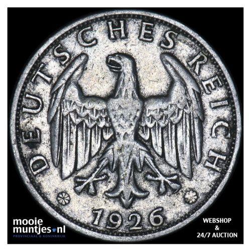 2 reichsmark - Germany-Weimar Republic 1926 J (KM 45) (kant A)