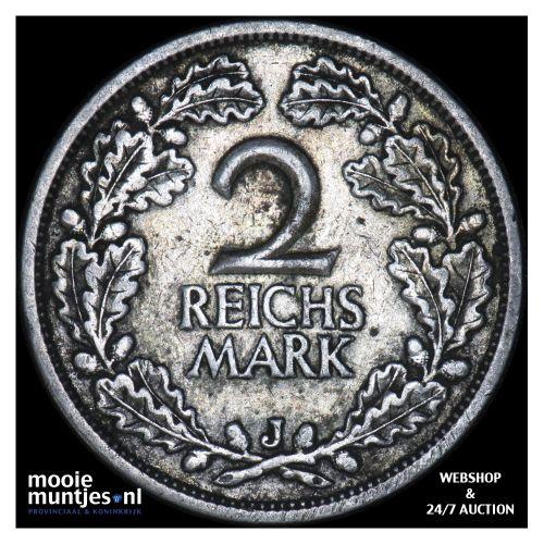 2 reichsmark - Germany-Weimar Republic 1926 J (KM 45) (kant B)