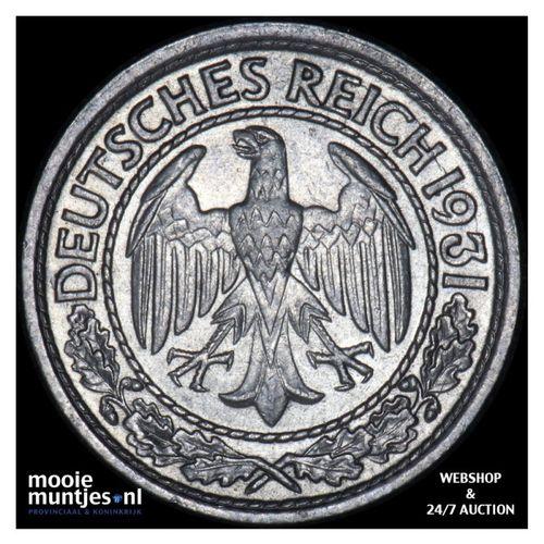 50 reichspfennig - Germany-Weimar Republic 1931 A (KM 49) (kant A)