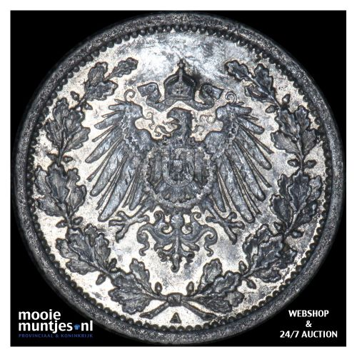 1/2 mark - Germany 1912 A (KM 17) (kant B)