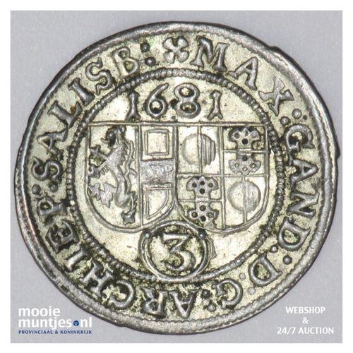 3 kreuzer - Austrian States/Salzburg 1681 (KM 228) (kant A)