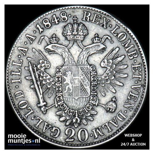 20 kreuzer - Austria 1848 A (KM 2208) (kant A)