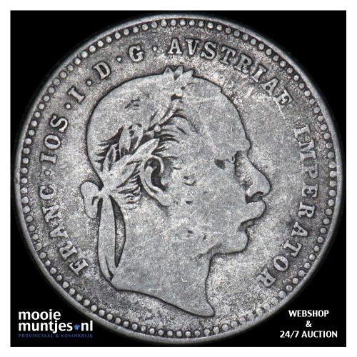 20 kreuzer - Austria 1870 (KM 2212) (kant B)