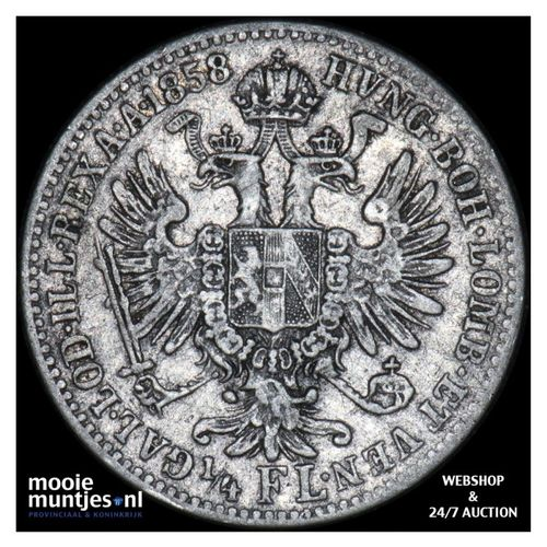 1/4 florin - Austria 1858 A (KM 2213) (kant A)