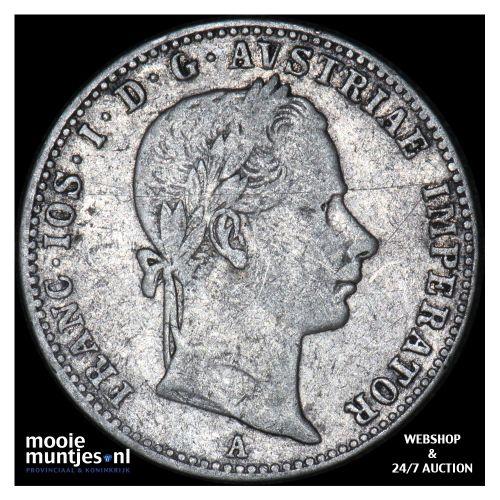 1/4 florin - Austria 1858 A (KM 2213) (kant B)