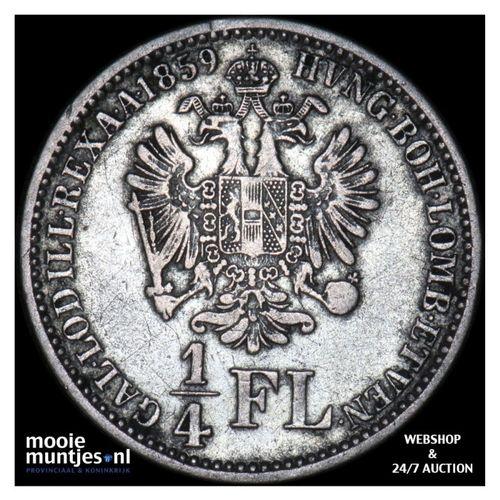 1/4 florin - Austria 1859 A (KM 2214) (kant A)
