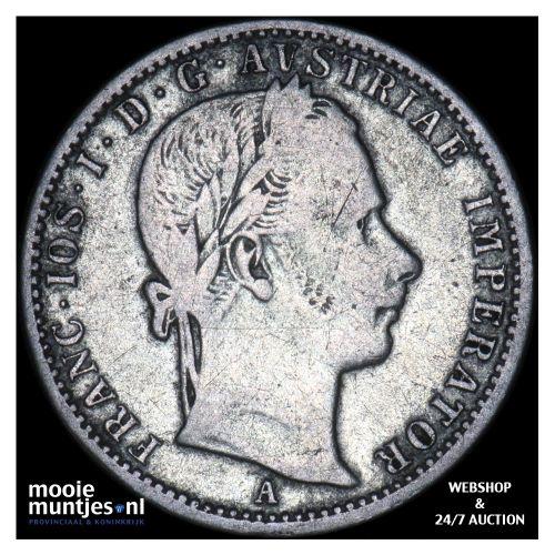 1/4 florin - Austria 1859 A (KM 2214) (kant B)