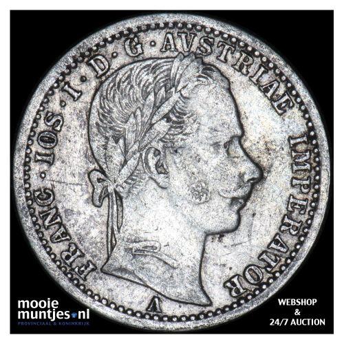 1/4 florin - Austria 1862 A (KM 2214) (kant B)
