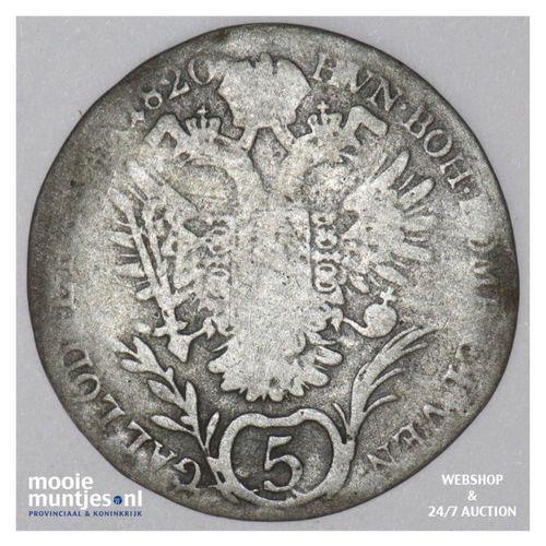 5 kreuzer - Austria 1820 B (KM 2123) (kant A)
