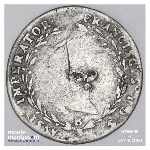 5 kreuzer - Austria 1820 B (KM 2123) (kant B)