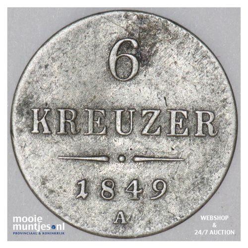 6 kreuzer - Austria 1849 A (KM 2200) (kant A)