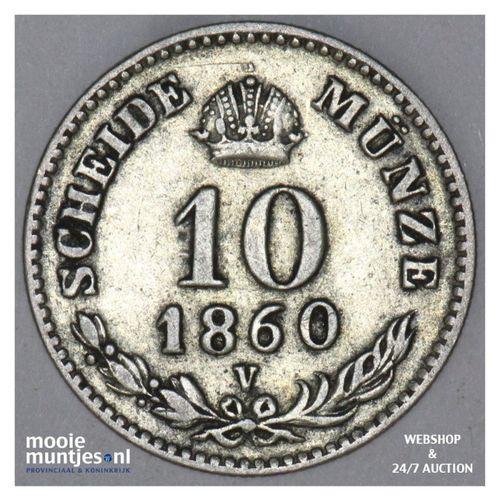 10 kreuzer - Austria 1860 V (KM 2204) (kant A)