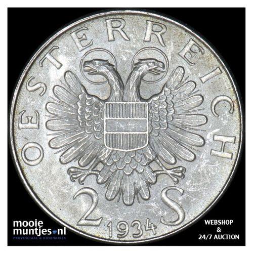 2 schilling - Austria 1934 (KM 2852) (kant A)
