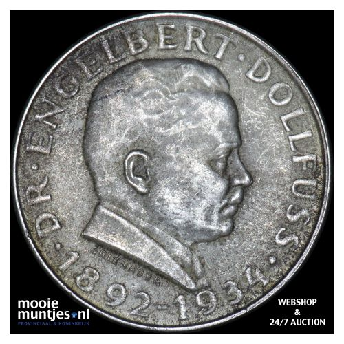 2 schilling - Austria 1934 (KM 2852) (kant B)