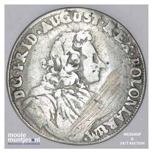 1/3 thaler (1/2 gulden) - German States/Saxony-Albertine 1704 (KM 723) (kant B)