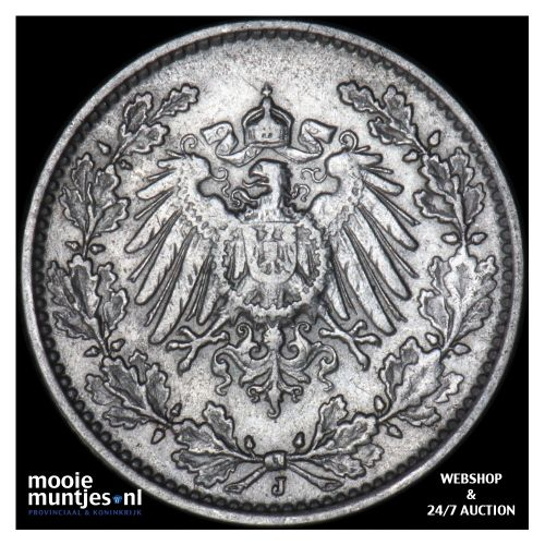 1/2 mark - Germany 1906 J (KM 17) (kant B)