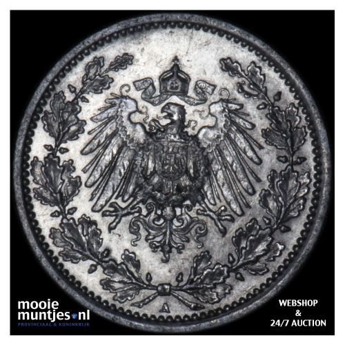 1/2 mark - Germany 1915 A (KM 17) (kant B)