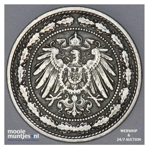 20 pfennig - Germany 1890 A (KM 13) (kant B)