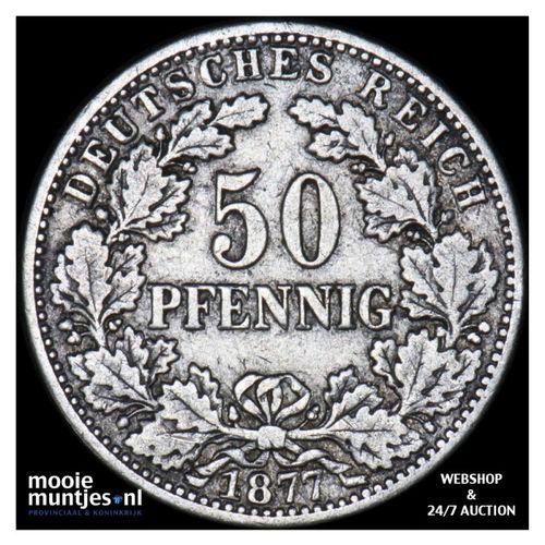 50 pfennig - Germany 1877 J (KM 8) (kant A)
